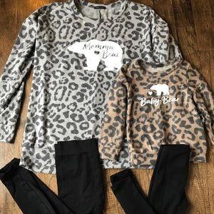 Mama bear shirts and baby bear shirts
